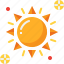 climate, forecast, hot, summer, sun, sunny, weather icon