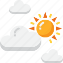 climate, cloud, cloudy, forecast, morning, partly, weather icon