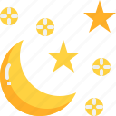 climate, crescent, forecast, moon, night, star, weather