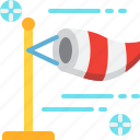 air, climate, forecast, weather, wind, windsock, windy icon