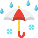 climate, forecast, rain, rainy, umbrella, weather icon