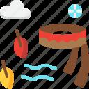 autumn, climate, clothes, fashion, scarf, season, weather icon
