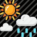 cloud, drizzle, forecast, rain, sun, sunny, weather