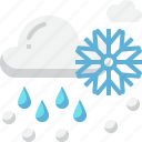 climate, cloud, forecast, rain, sleet, snow, weather icon
