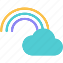 clouds, colors, heat, rain, rainbow, riseweather, sunset icon