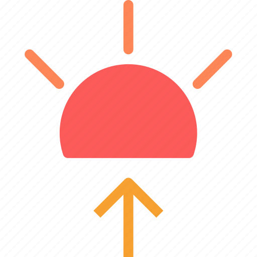 heat, rise, sun, sunset, warm icon
