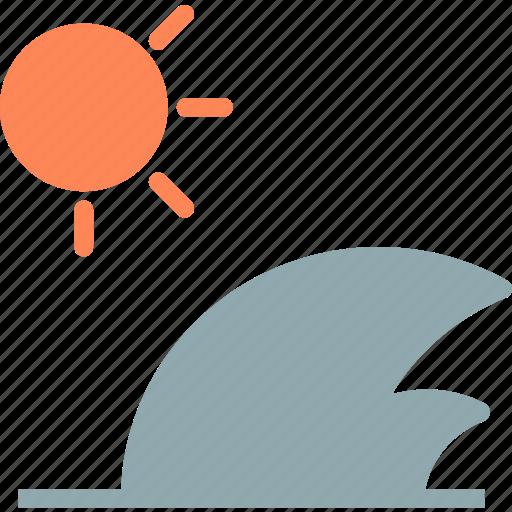 big, heat, sea, sun, sunset, warm, waves icon