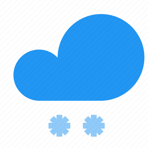 cloud, forecast, frost, snow, snowfall, weather icon
