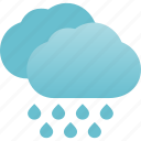 heavy, precipitation, rain, rainstorm, rainy, weather icon