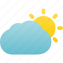 cloudy, day, mostly, partly, sunny, weather