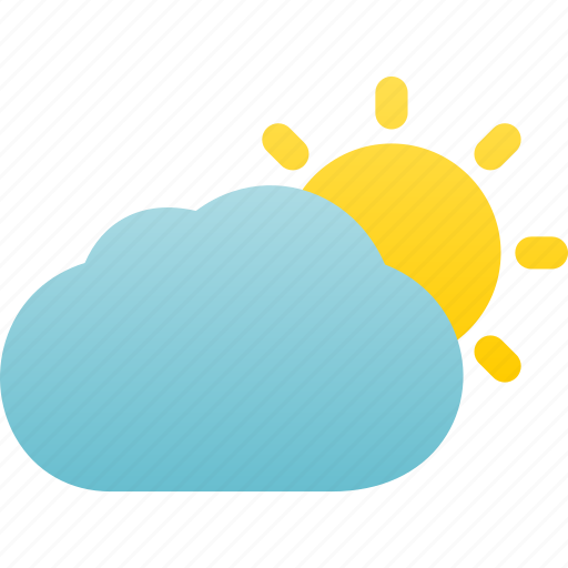 cloudy, day, mostly, partly, sunny, weather icon