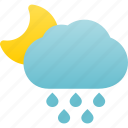 night, rain, rainfall, raining, rainy, weather icon