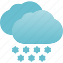 heavy, snow, snowfall, snowing, weather icon