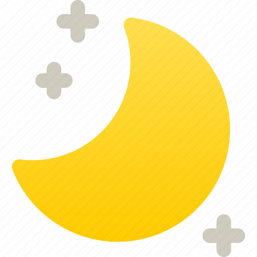 clear, moon, moon and stars, night, weather icon