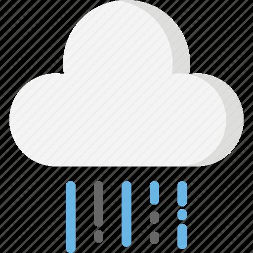 cloud, forecast, heavy, rain, season, weather icon