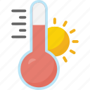 forecast, hot, season, sunny, temp, weather icon