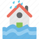 forecast, rain, season, water, weather icon