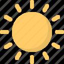 big, forecast, hot, season, sun, sunny, weather icon