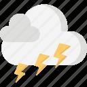 cloud, forecast, season, thunder, weather icon