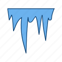 cold, ice, icicle, icicles, snow, winter icon