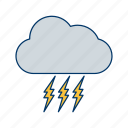 bad weather, cloud, cloudy, rain, strome icon