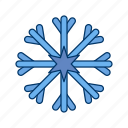 cold, flake, snow, snowfall, snowflake, weather icon