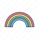 after rain, colorful, nature, pride, rainbow icon