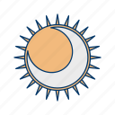 astronomy, eclipse, ellipse, planet, space, star icon