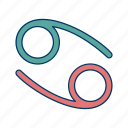 cancer, shape, sign icon