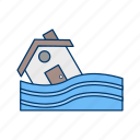 alarm, attention, board, error, flood, warning icon