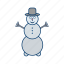 cold, greeting, play, snow, snow man, winter icon