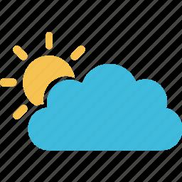 cloud, forecast, meteorology, season, sun, sunshine, weather icon