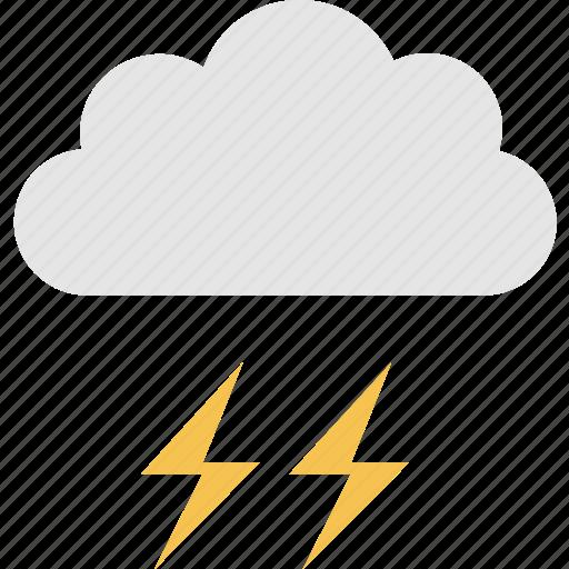cloud, forecast, meteorology, season, thunder, thunderbolt, weather icon