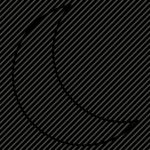 crescent, moon, night icon
