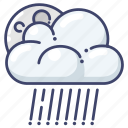 clouds, night, rain icon