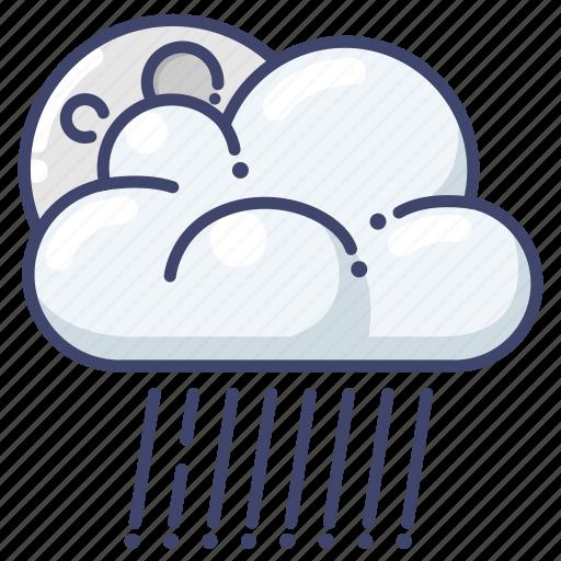 clouds, night, rain icon