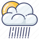 clouds, rain, sun icon