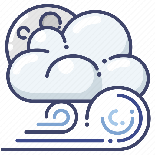 clouds, night, weather icon