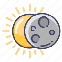 astronomy, eclipse, sun icon