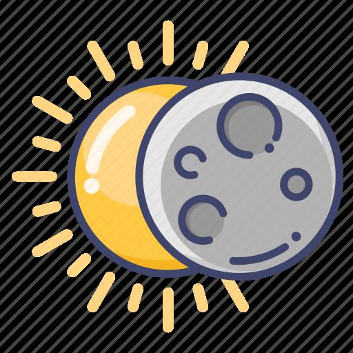 astronomy, eclipse, sun icon