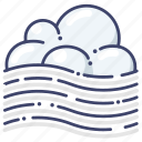 fog, foggy, weather icon