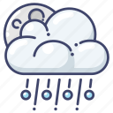 hail, night, weather icon