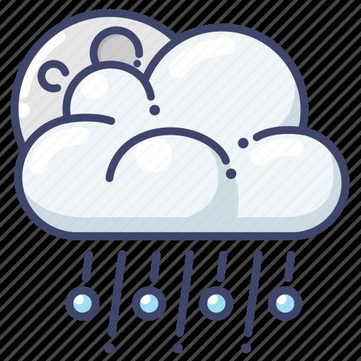 hail, night, weather icon