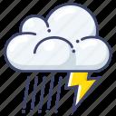 lightning, rain, storm icon