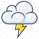 lightning, thunder, weather icon