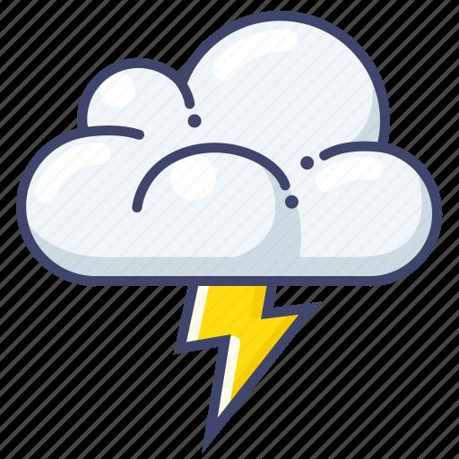 lightning, thunder, weather icon