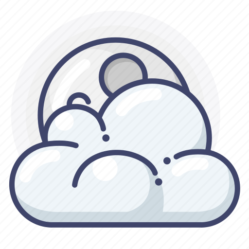 clouds, moon, night icon