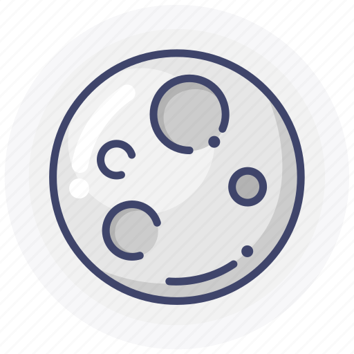 moon, planet, weather icon