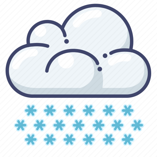 clouds, snow, weather icon