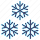 snow, snowflakes, weather icon